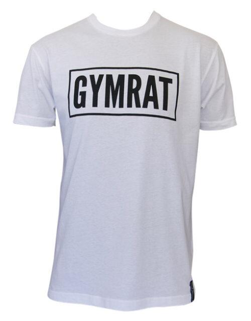 Gymrat Tee - White 100% Cotton