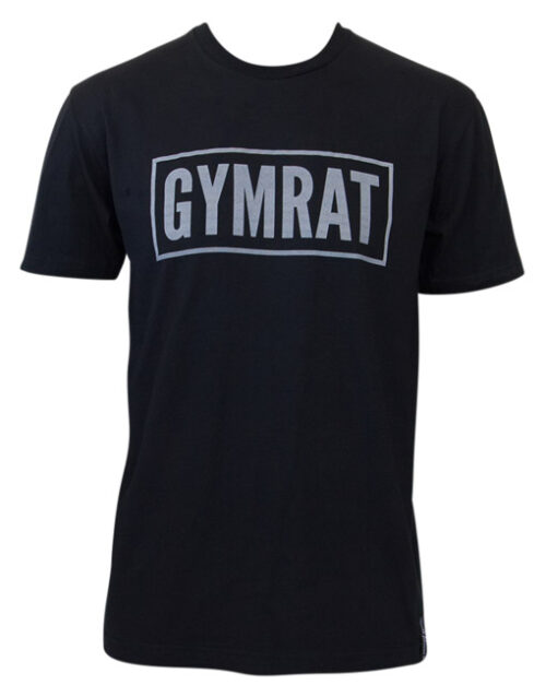 Gymrat Tee Black Cotton Front