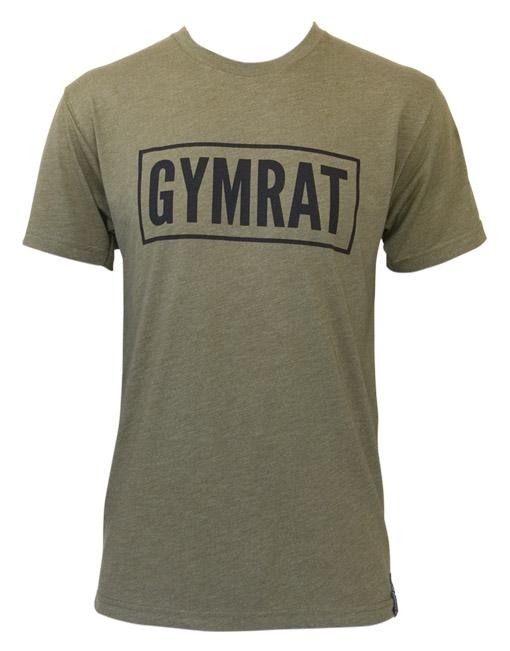 Gymrat Tee Millitary Green Tri-Blend Front