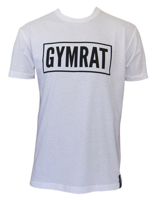 Gymrat Tee - White 100% Cotton